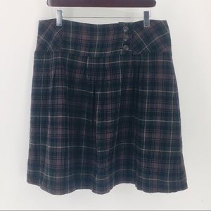 CAbi/ Plaid Mini Skirt